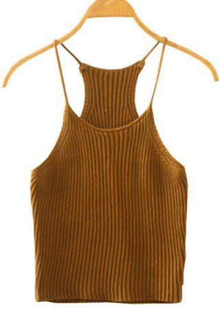 Cheap Spaghetti Straps Crocheted Tank Top