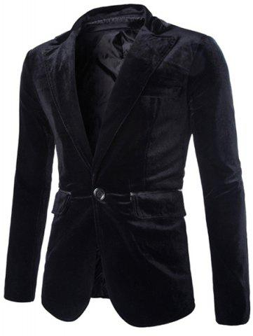 Unique Fashion Lapel Pocket Edging Design Slimming Long Sleeve Corduroy Blazer For Men