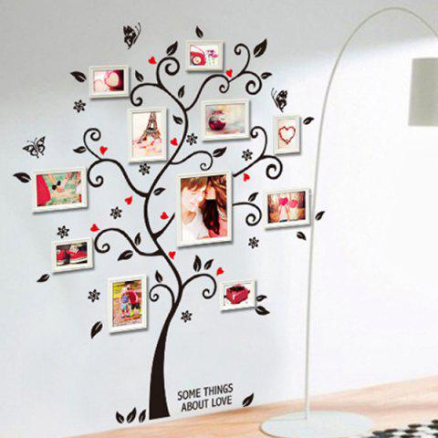 New Photo Frame Tree Shape Removeable Vinyl Wall Stickers - BLACK  Mobile