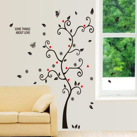 Discount Photo Frame Tree Shape Removeable Vinyl Wall Stickers - BLACK  Mobile