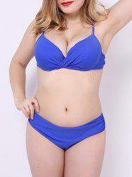 Underwire Push Up Plus Size Bikini Set -