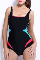 Charming Hit Color Bodycon One-Piece Swimwear For Women -