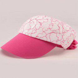 Fashionable Folding Open Top Lace Embroidery Elastic Visors For Women -