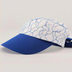 Fashionable Folding Open Top Lace Embroidery Elastic Visors For Women