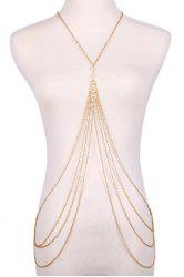 Fashionable Faux Pearl Decorated Multi-Layered Beach Body Jewelry For Women