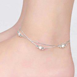 Double Layered Heart Anklet -