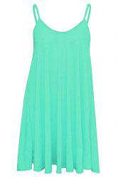 Short Slip Dress - LIGHT BLUE