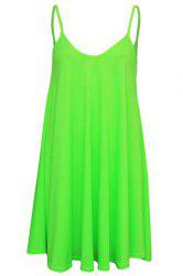 Short Slip Shift Dress - NEON GREEN