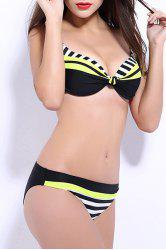 Women's Stylish Push Up   Color Block Bikini Suit