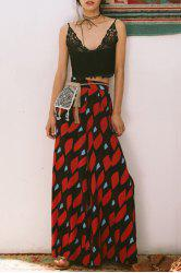 Stylish Printed Side Slit Palazzo Pants For Women