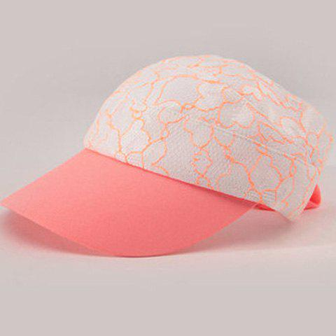 Affordable Fashionable Folding Open Top Lace Embroidery Elastic Visors For Women