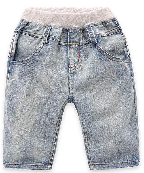 Shops Fashionable Pocket Design Striped Denim Shorts For Boy