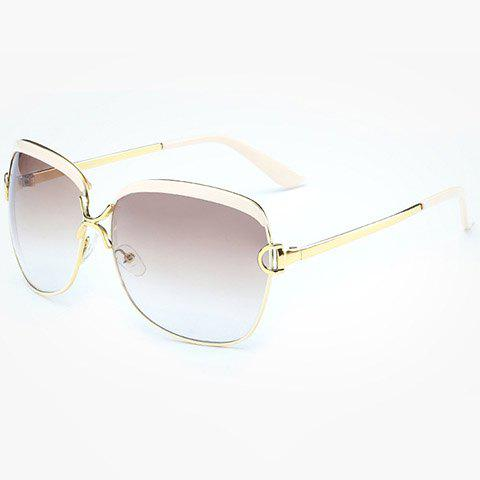 Best Chic Hollow Letter D Shape Embellished Gold Match Sunglasses For Women
