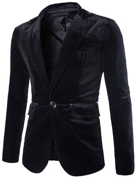 Cheap Fashion Lapel Pocket Edging Design Slimming Long Sleeve Corduroy Blazer For Men
