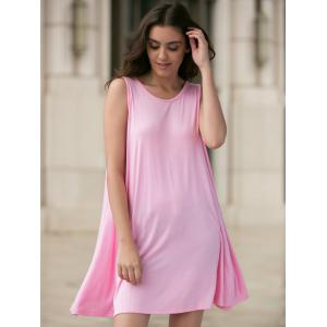 Casual Round Neck Sleeveless Loose-Fitting Women's Dress -