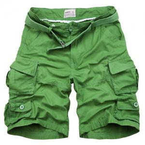 Zipper Fly Pockets Design Straight Leg Shorts For Men