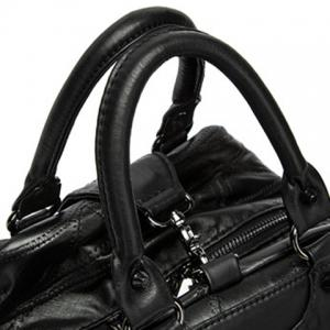 Leisure Stitching and Black Design Satchel For Women -
