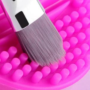 Stylish Makeup Brush Cleaning Tool Silicone Wash Board - ROSE