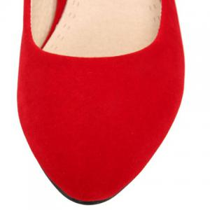 Sweet Suede and Solid Color Design Pumps For Women -