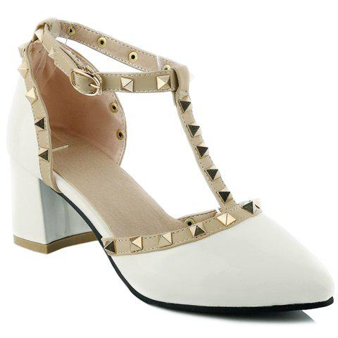 Fancy Fashionable T-Strap and Pointed Toe Design Pumps For Women