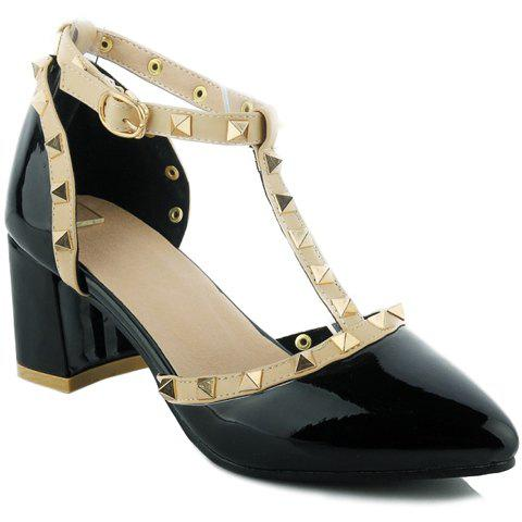 Outfit Fashionable T-Strap and Pointed Toe Design Pumps For Women