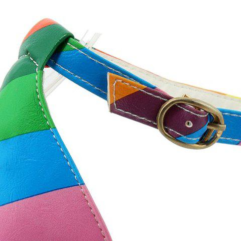 Hot Trendy Iridescent Color and Stiletto Heel Design Sandals For Women - 37 COLORMIX Mobile