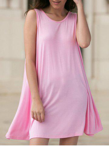 Latest Casual Round Neck Sleeveless Loose-Fitting Women's Dress