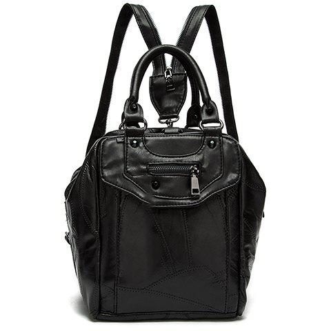 Discount Leisure Stitching and Black Design Satchel For Women