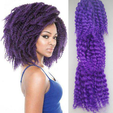 Shop 3PCS Stunning Short Heat Resistant Fiber Shaggy Afro Curly Braiding Hair Extension For Women - PURPLE  Mobile