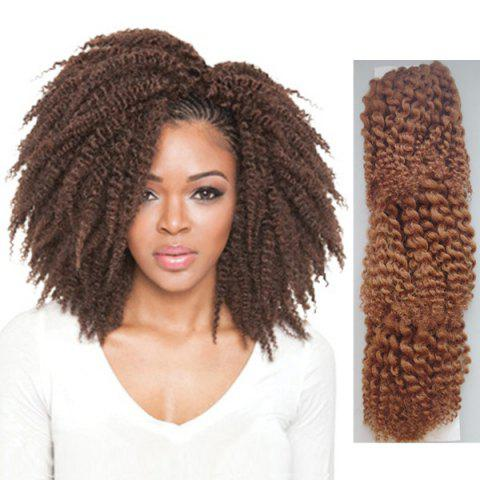 Affordable 3PCS Stunning Short Heat Resistant Fiber Shaggy Afro Curly Braiding Hair Extension For Women - BROWN  Mobile
