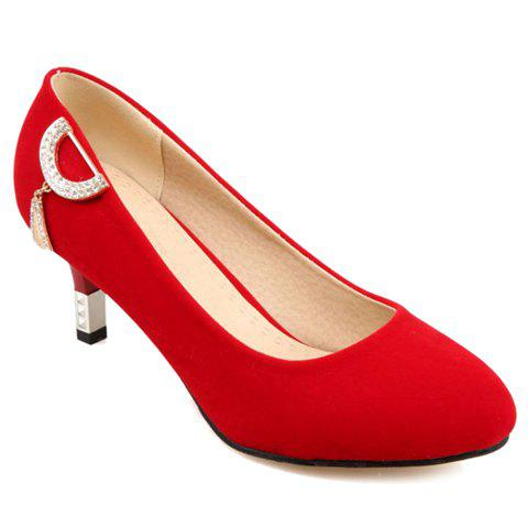 Hot Sweet Suede and Solid Color Design Pumps For Women