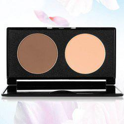 Stylish 2 Colours Contour Highlight Shadow Pressed Powder Palette with Mirror -