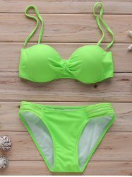 Halter Push Up Bandeau Bikini Set