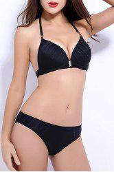 Halter Neckline Push Up Bikini -