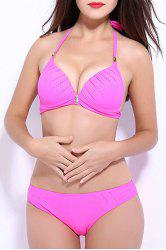 Halter Neckline Push Up Bikini