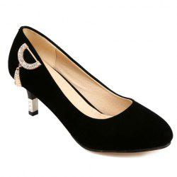 Sweet Suede and Solid Color Design Pumps For Women - BLACK