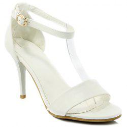 Graceful Talon Stiletto et solides Color Design sandales pour femmes - Blanc