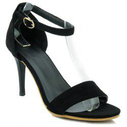 Elegant Black Color and Ankle Strap Design Sandals For Women