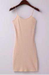 Skinny Ribbed Cami Mini Dress