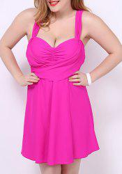 Women's Stylish Pure Color Push Up Sweetheart Neck Plus Size Swimwear