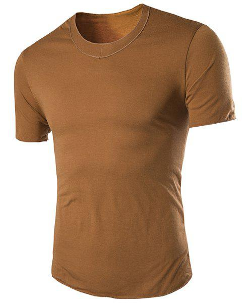 Discount Round Neck Slimming Simple Short Sleeve T-Shirt For Men