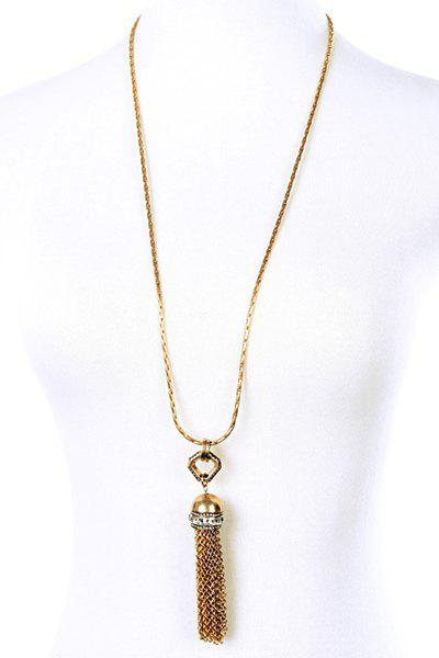 Discount Vintage Alloy Link Chain Tassel Necklace For Women