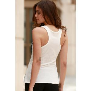 Stylish Scoop Neck Sleeveless Ombre Star Print Women's Tank Top -