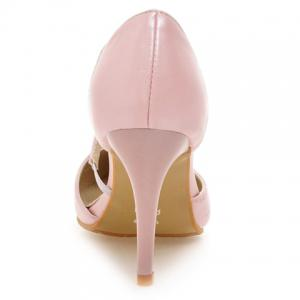 Elegant Pointed Toe and PU Leather Design Pumps For Women -