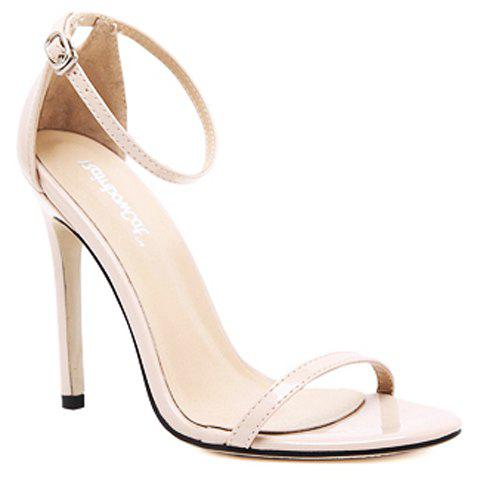 Fancy Trendy Strappy and Ankle Strap Design Sandals For Women - 36 APRICOT Mobile