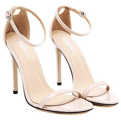 Discount Trendy Strappy and Ankle Strap Design Sandals For Women - 37 APRICOT Mobile