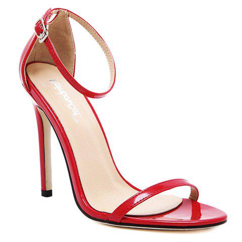 Online Trendy Strappy and Ankle Strap Design Sandals For Women RED 39