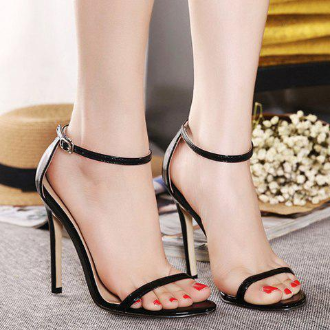 Outfits Trendy Strappy and Ankle Strap Design Sandals For Women - 36 BLACK Mobile
