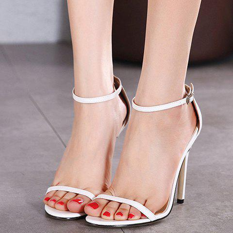 Cheap Trendy Strappy and Ankle Strap Design Sandals For Women - 40 WHITE Mobile