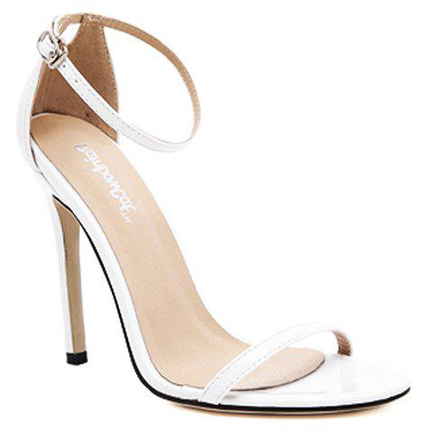 Fashion Trendy Strappy and Ankle Strap Design Sandals For Women - 40 WHITE Mobile